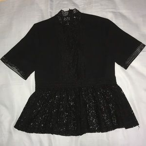 Black cute blouse. My favorite & great material!